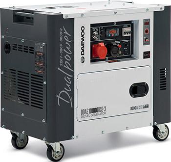 Электрический генератор и электростанция Daewoo Power Products DDAE 10000 DSE-3 электрический генератор и электростанция daewoo power products gda 8500 e