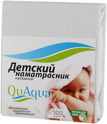 Наматрасник QuAqua Jercey 65х125 белый (670155)