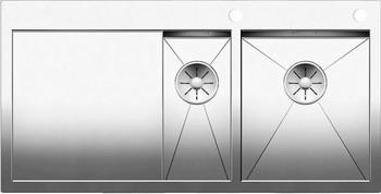 Кухонная мойка BLANCO ZEROX 6S-IF/А (чаша справа) нерж. сталь зеркальная полировка с клапаном-автоматом 521643 мойка кухонная blanco zenar 45s чаша справа белый с клапаном автоматом 519255