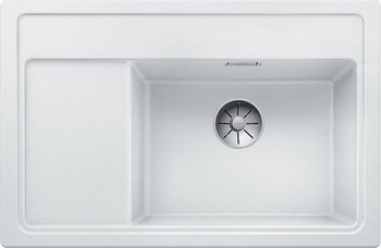 Кухонная мойка BLANCO ZENAR XL 6S Compact белый чаша справа доска стекло c кл.-авт. InFino 523758 кухонная мойка blanco zenar xl 6s compact шампань чаша справа доска стекло c кл авт infino 523760