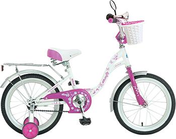 Велосипед Novatrack 14'' BUTTERFLY  белый-сиреневый 147 BUTTERFLY.WPR7 детский велосипед для девочек novatrack butterfly 52192 white pink