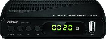 Цифровой телевизионный ресивер BBK SMP 145 HDT2 чёрный цифровой телевизионный ресивер bbk smp 240 hdt2 чёрный