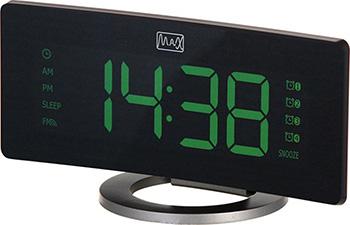 Радиочасы с будильником MAX CR-2914 радиочасы с будильником mystery mcr 68 black