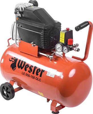 Компрессор WESTER LE 050-150 OLC компрессор wester w 050 180 olc поршневой масляный 1800 вт 260л мин 8бар