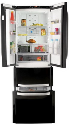 Многокамерный холодильник Hotpoint-Ariston E4D AA B C Quadrio marina creazioni 2452 nero nero page 1