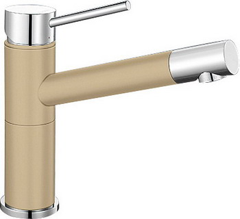 Кухонный смеситель BLANCO ALTA Compact хром/шампань blanco alta s compact двухцветный шампань