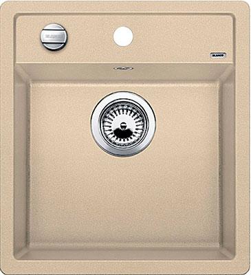 Кухонная мойка BLANCO DALAGO 45 SILGRANIT шампань с клапаном-автоматом  кухонная мойка blanco dalago 45 grey beige