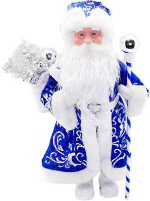 Кукла Новогодняя сказка Дед Мороз 43 см под елку синий (972426) мягкие игрушки новогодняя сказка кукла снегурочка 35 5 см красн бел
