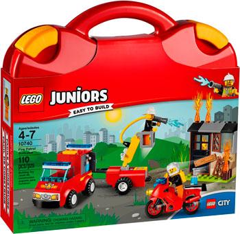 Конструктор Lego Juniors Чемоданчик Пожарная команда 10740 отпариватель monster mb 10740