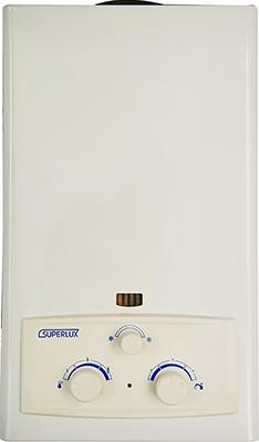 Колонка газовая Superlux DGI 10 L CF белый газовая колонка etalon a 10 l