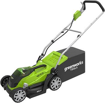Колесная газонокосилка Greenworks 40 V G-max G 40 LM 35 без аккумулятора и зарядного устройства 2501907 газонокосилка аккумуляторная greenworks g max g40lm35 40 в 35 см комплект