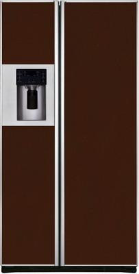 Холодильник Side by Side Iomabe ORE 24 CGFFKB 8017 коричневое стекло раздвижной большой стеклянный обеденный стол кубика нагано 2 стекло стекло темно коричневое венге