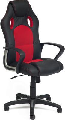 Кресло Tetchair RACER NEW (кож/зам/ткань черный/красный 36-6/08) кресло tetchair runner кож зам ткань черный красный 36 6 tw 08 tw 12