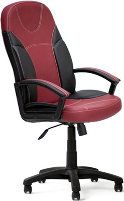 Кресло Tetchair TWISTER (кож/зам черный бордо PU -36-/  -7)