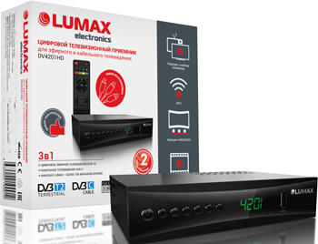 Цифровой телевизионный ресивер Lumax DV 4201 HD цифровой телевизионный ресивер lumax dv 3209 hd