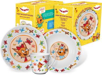Набор посуды Гусь Хрустальный Три кота - Бабочки КРС - 821 набор посуды polaris verona 04s