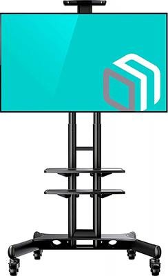 Мобильная стойка для презентаций ONKRON TS 1552 черный универсальная мобильная стойка ums 4 для интерактивных досок с крепежом для укф проекторов