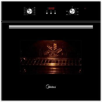 Встраиваемый электрический духовой шкаф Midea 65 DEE 30004 Black встраиваемый электрический духовой шкаф smeg sf 4120 mcn