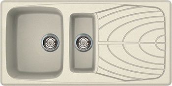 Кухонная мойка Elleci MASTER 475  1000*500  granitek (62) Bianco Antico LGM 47562