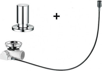 Набор доукомплектации клапаном-автоматом BLANCO с круглой ручкой хром набор доукомплектации 519377 blanco