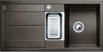 Кухонная мойка BLANCO METRA 6 S-F кофе с клапаном-автоматом кухонная мойка blanco metra 6 s f алюметаллик с клапаном автоматом