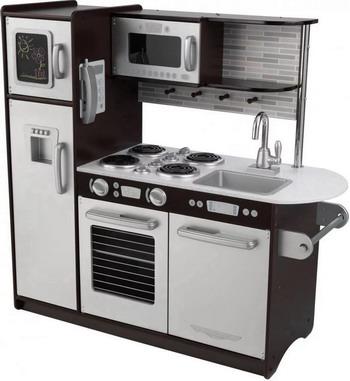 Деревянная кухня KidKraft Uptown Espresso 53260_KE кукольные домики и мебель kidkraft игровая угловая кухня 53368 ke