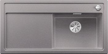 Кухонная мойка BLANCO ZENAR XL 6S (чаша справа) SILGRANIT алюметаллик с кл.-авт. InFino 523946 кухонная мойка blanco zenar xl 6s compact шампань чаша справа доска стекло c кл авт infino 523760
