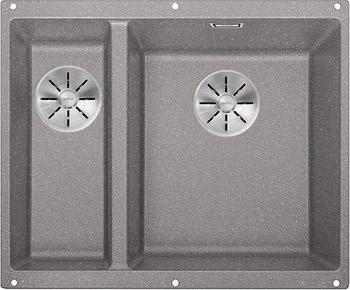 Кухонная мойка BLANCO SUBLINE 340/160-U SILGRANIT алюметаллик (чаша справа) с отв.арм. InFino 523560