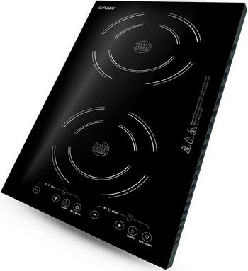 Встраиваемая электрическая варочная панель Ginzzu HCI-241 ginzzu hci 407 black панель варочная индукционная встраиваемая