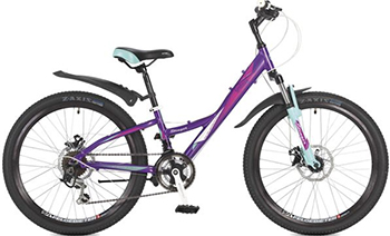 Велосипед Stinger 24'' Galaxy D 11'' фиолетовый 24 AHD.GALAXD.11 VT7 велосипед stinger valencia 2017