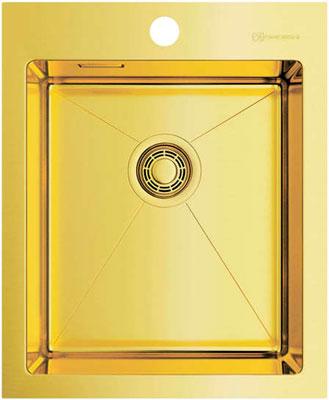 Кухонная мойка OMOIKIRI Akisame 41-LG нерж.сталь/светлое золото 4973080 114 0175 358 мойка кухонная rog 610 41 сахара ronda franke