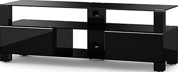 Тумба под телевизор Sonorous MD 9140 B-HBLK-BLK подставки под телевизоры и hi fi md 509 1812 b planima черный дымчатое стекло
