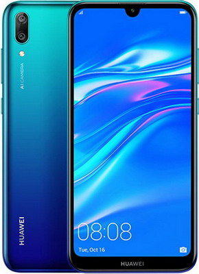 Смартфон Huawei Y7 2019 3/32 GB Aurora Blue статуэтка кузнечик маленький 18 х 7 5 х 10 см