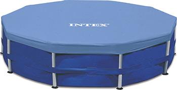 Тент Intex Metal Frame 305см (выступ 25см) 28030 тент intex 28040 для каркасного бассейна ultra frame 488см выступ 20см