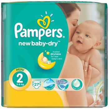 Подгузники Pampers New Baby-Dry Mini 3-6 кг 27 шт