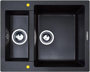 Кухонная мойка Zigmund amp Shtain RECHTECK 600.2  черный базальт кухонная мойка zigmund amp shtain kaskade 800 каменная соль