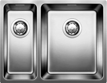 Кухонная мойка BLANCO ANDANO 340/180-U нерж.сталь полированная с клапаном-автоматом чаша справа