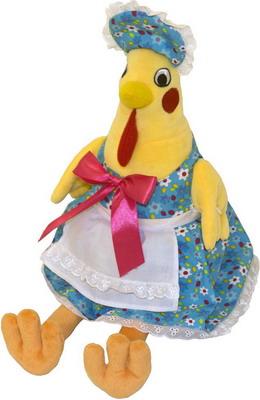 Курочка Марфа Gulliver желто-голубая мягкая игрушка gulliver курочка марфа