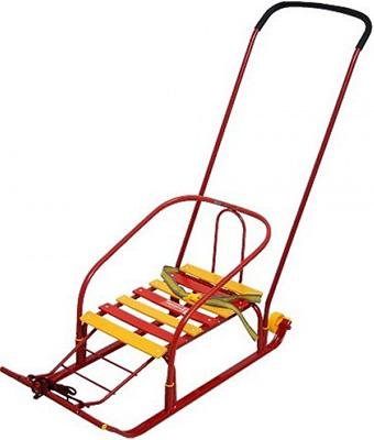 Санки Nika Kids Тимка 5 Комфорт с большим колесом красный