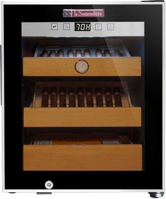 Сигарный шкаф (хьюмидор) LaSommeliere CIG 251 чёрный с чёрной рамкой