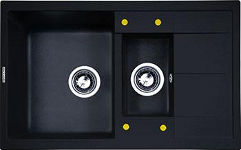 цена на Кухонная мойка Zigmund amp Shtain Rechteck 780.2 темная скала