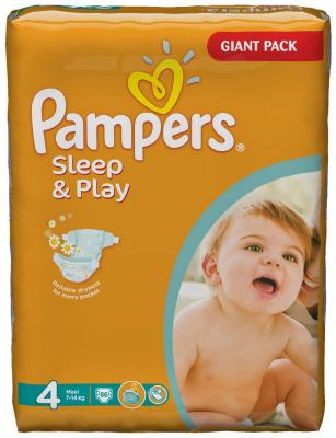 Подгузники Pampers Premium Sleep&Play Maxi 7-14 кг  86 шт fandyfire 600lm 1 led 5 mode cool white light flashlight w strap black 1 x 18650