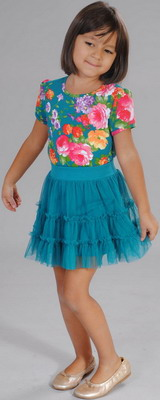 Блуза Fleur de Vie 24-2191 рост 128 морская волна комплект fleur de vie 24 0660 рост 128 розовый