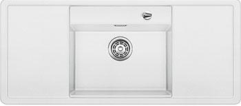 Кухонная мойка BLANCO ALAROS 6S (с белой доской) SILGRANIT белый с клапаном-автоматом  мойка alaros 6 s tartufo black 517283 blanco