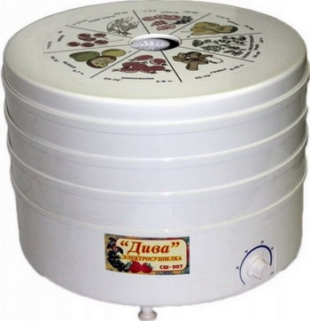Сушилка для овощей Ротор Дива СШ-007-01 сушилка для овощей и фруктов ротор сш 007 06 сш 007
