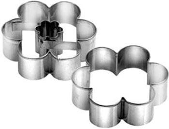 Формочки для печенья с начинкой Tescoma цветок DELICIA d5.5cm 631182 противень для выпечки tescoma delicia 46 x 30см 623014