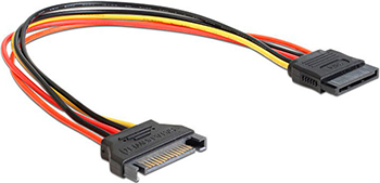 Кабель питания Vention SATA 15 pin M/SATA 15 pin F - 0.3м 10625 sata 15 pin male to 2 x ide 4 pin female adapter cable white 20cm