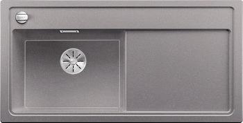 Кухонная мойка BLANCO ZENAR XL 6S (чаша слева) SILGRANIT алюметаллик с кл.-авт. InFino 523976 мойка zenar xl 6 s anthracite right 519271 blanco