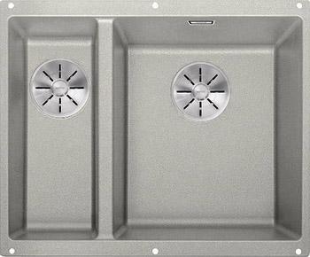 Кухонная мойка BLANCO SUBLINE 340/160-U SILGRANIT жемчужный (чаша справа) с отв.арм. InFino 523561 blanco statura 160 u