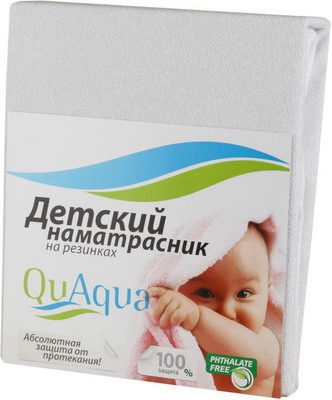Наматрасник QuAqua Jercey 65х125 белый (670353)